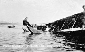 Radley-England Waterplane no.1. Photo.  Eric Gordon England ditched off Shoreham 1912
